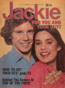 Michael J Dixon on cover of Jackie Magazine