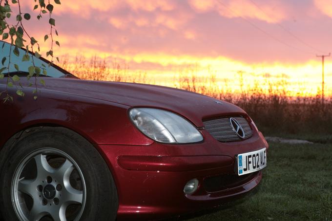 merc SLK 2003 red