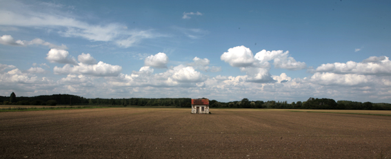tiny house in field in france